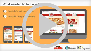 Cognizant and Experitest Empower Papa John's to Perfect Their Mobile App