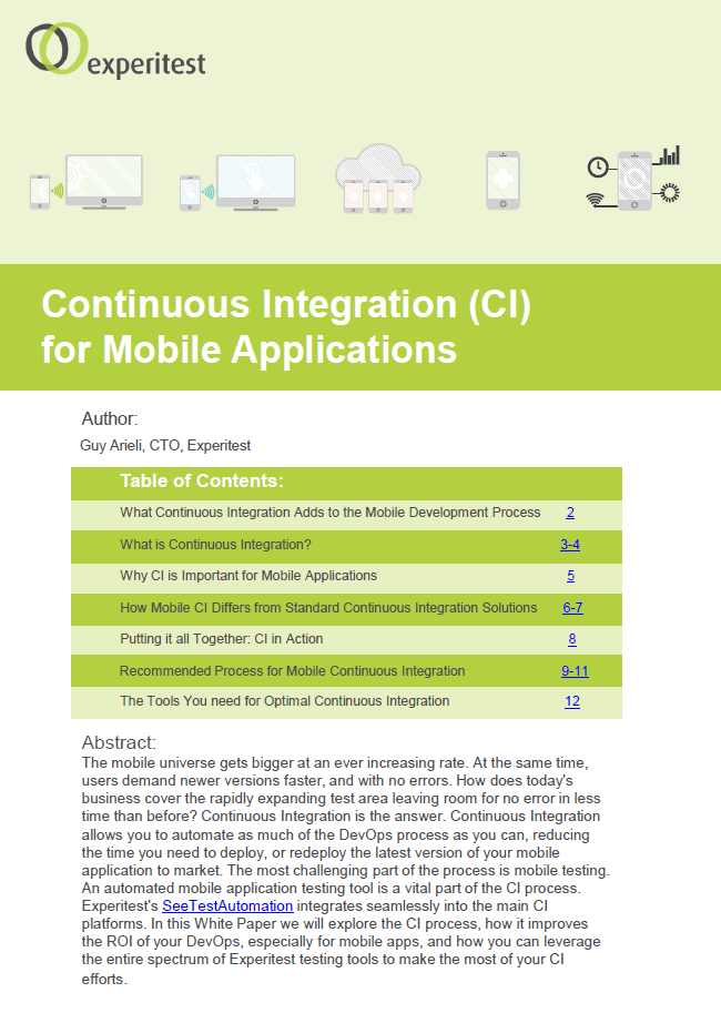 Continuous Integration (CI) for Mobile Applications