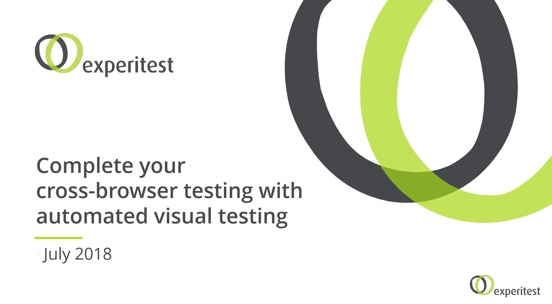 Complete your cross-browser testing with automated visual testing