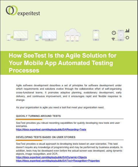 How SeeTest Is the Agile Solution for Your Mobile App Automated Testing Processes