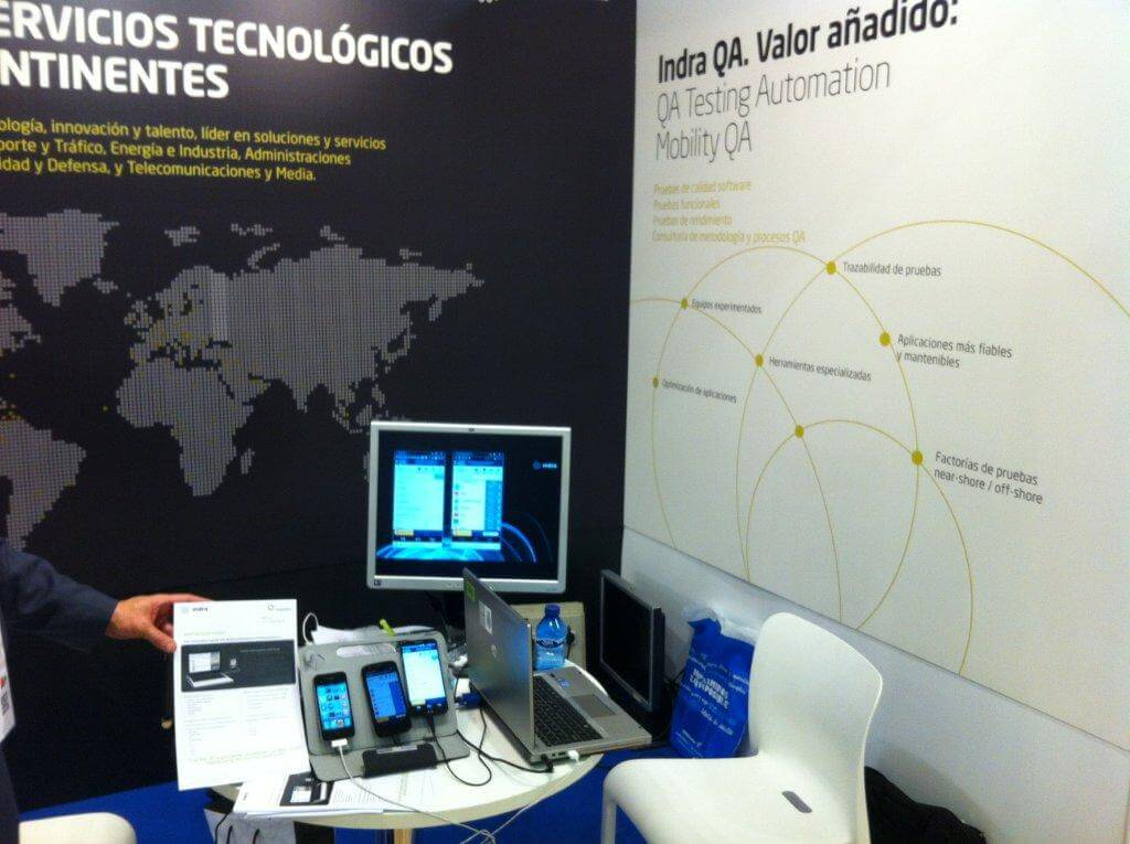 Indra & Experitest at ExpoQA 2014, Spain