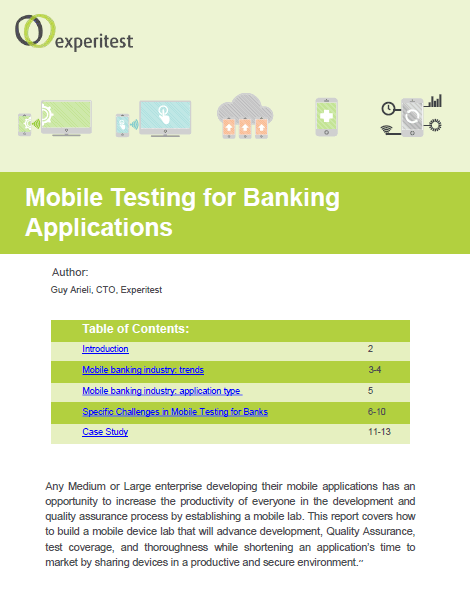 Mobile Testing for Banking Applications