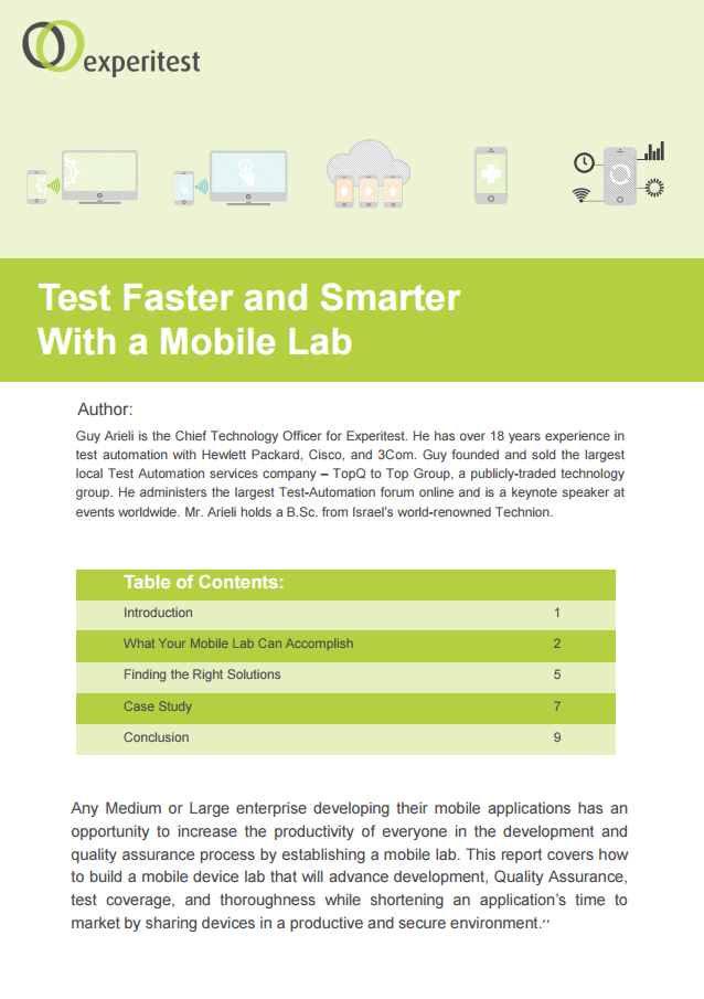 Test Faster and Smarter With a Mobile Lab